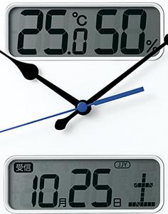 617dc9cc64 カレンダーの他に、温度・湿度も表示しますので、設置場所の環境が一目で分かります(*)。また、電波の受信状況の確認もできます。